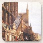 Cityhall in Lbeck by Cornelis Springer Drink Coaster