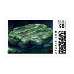 Sword and Flute Postage Stamp
