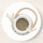 Teapot with chinese tea leaves drink coaster