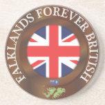 Falklands Forever British Sandstone Coaster