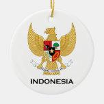 INDONESIA - emblem/flag/coat of arms/symbol Ceramic Ornament