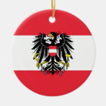 Flag of Austria - Flagge Österreichs Ceramic Ornament