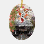 Daikoku it causes, the cat float island shrine ceramic ornament