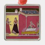 Preparing the Bed, Bilaspur, c.1690-1700 Metal Ornament