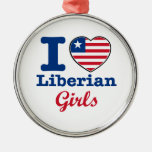 Liberian birthday design metal ornament