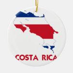 COSTA RICA MAP CERAMIC ORNAMENT