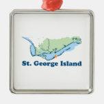 St George Island. Metal Ornament