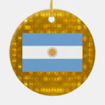 Official Argentinean Flag Ceramic Ornament