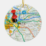 Metz, France Ceramic Ornament