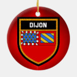 Dijon Flag Ceramic Ornament