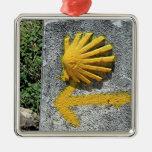 El Camino de Santiago de Compostela, Spain, shell Metal Ornament