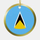 Saint Lucia Flag Ornament
