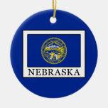 Nebraska Ceramic Ornament
