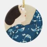 100 Figures of Beauties Wearing Takasago Kimonos Ceramic Ornament