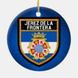 Jerez de la Frontera Flag Ceramic Ornament