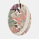 The Second Sakata Hangoro as a Daimyo Attired Ceramic Ornament