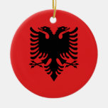 Flag of Albania - Flamuri i Shqipërisë Ceramic Ornament