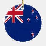 New Zealand Flag Ceramic Ornament