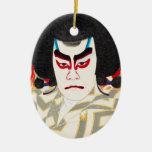 Actor Ichikawa Sadanji as Narukami Ceramic Ornament