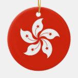 Ornament with flag of Hong Kong, China