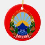 Macedonia Flag Christmas Ornament