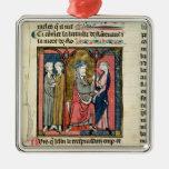 Charlemagne sending Ganelon Metal Ornament