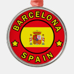 Barcelona Spain Metal Ornament