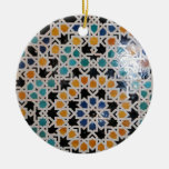 Alhambra Wall Tile #9 Ceramic Ornament