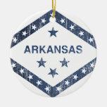 Arkansas Flag Ceramic Ornament