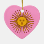 Golden Sun of May Argentina Flag Decoration