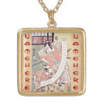 The Second Sakata Hangoro as a Daimyo Attired Gold Plated Necklace