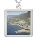 Aerial view of Sea Cliff Bridge near Wollongong, 2 Silver Plated Necklace