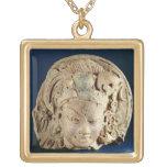 Head of Ardhanarisvara, Newal, Unnao (terracotta) Gold Plated Necklace