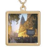 Mahabodhi Buddhist Temple Bodh Gaya India Gold Plated Necklace