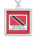 Trinidad and Tobago Silver Plated Necklace