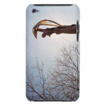 Backlit tatue outdoors near trees Case-Mate iPod touch case