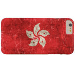 Vintage Aged and Scratched Flag of Hong Kong Barely There iPhone 6 Plus Case
