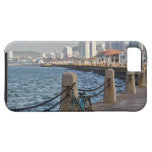 Bicycle at waterfront with Yantai city skyline, iPhone SE/5/5s Case