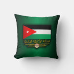 Kingdom of Jordan Flag (Arabic) Throw Pillow