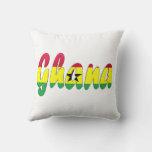 Ghanaian Flag Pillow