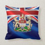 [300] Hong Kong Historical 1959-1997 Coat of Arms Throw Pillow