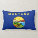 Montana State Flag Design Lumbar Pillow
