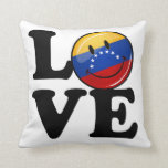 Love From Venezuela Smiling Flag Throw Pillow