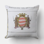 Pavillon de Guerre, detail from Flags from Monaco Throw Pillow