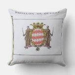 Pavillon de Guerre, detail from Flags from Monaco Throw Pillow