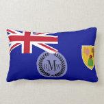Turks and Caicos Islands Flag Lumbar Pillow