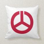 Koriyama city flag Fukushima prefecture japan symb Throw Pillow