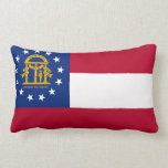 Georgia flag, American state flag Throw Pillow