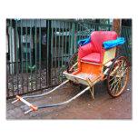 Hand Pulled Rickshaw in Kolkata (Calcutta), India Photo Print