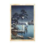 Kangetsu Bridge, Shimonoseki on Early Autumn Canvas Print